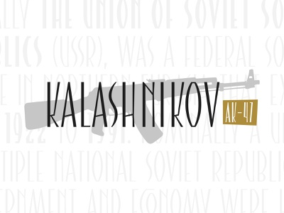 Kalashnikov typeface design ak47 soviet font typeface type customtype typography logotype logo typemate lettering