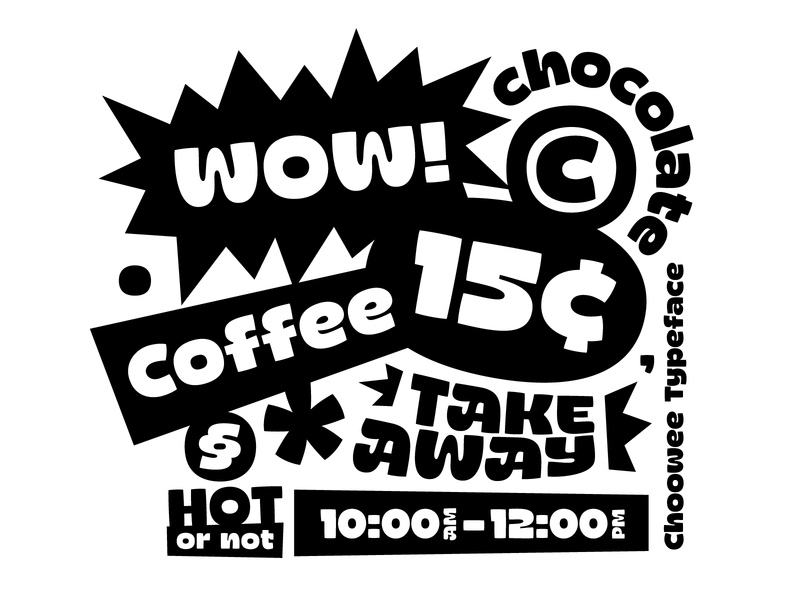 Choowee typeface typo typeface design font typeface coffee type customtype typography typemate lettering