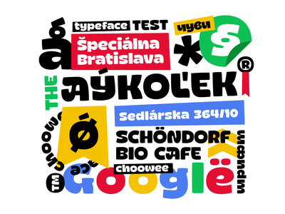 Choowee typeface test identity choowee font diacritics cyrillic typeface type typography typemate customtype lettering