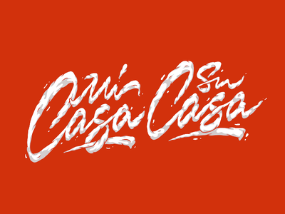 Mi Casa Su Casa clouds casa cloudy type handlettering customtype calligraphy typography logotype logo typemate lettering