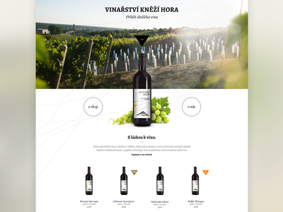Knezi Hora Winery website clean wine winery web white green photography lens e-commerce parallax ui design