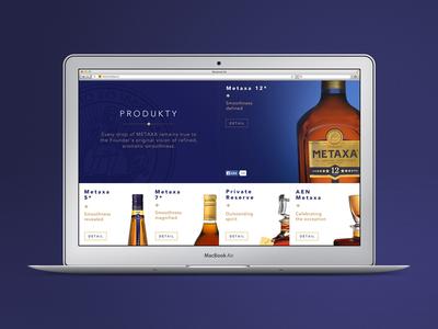 Metaxa Website Redesign