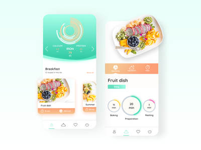 App Design - Veggierator App, a nutritionist in your pocket mobile appdesign clean ios food design user interface ui ux user experience app
