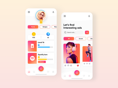 Trimiday - App design mobile app design gradient orange red colors nike beats beats by dre spotify branding advertisement mobile trimiday ios design user interface ui app ux user experience