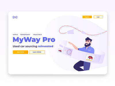 Landing page design and development app character design characterdesign characters illustrations website user interface ui ux user experience yellow purple cars design landing page landingpage