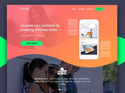 Trimiday advertisement website website app advertisement clean user experience user interface web design trimiday