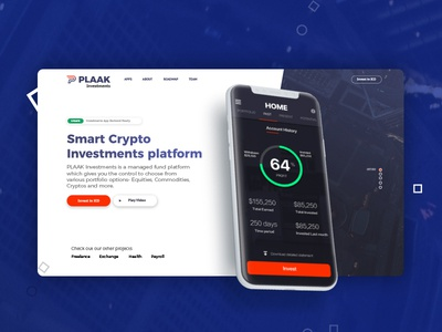 PLAAK Crypto Investments Landing
