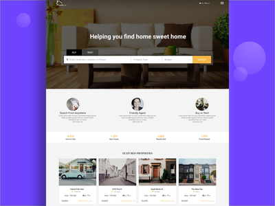 Real estate Landing page ux ui cms wireframe agent builders brand page landing property estate real