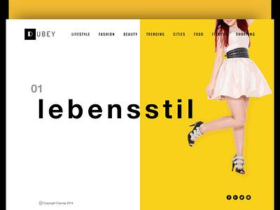 Lifestyle Magazine & e-commerce store branding lemon-yellow design web uiux store simple shop homepage e-commerce lifestyle fashion