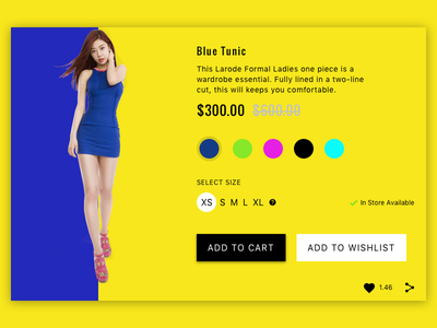 Lifestyle Magazine & e-commerce store 2 cart ui store simple shop lifestyle lemon-yellow homepage fashion e-commerce design branding
