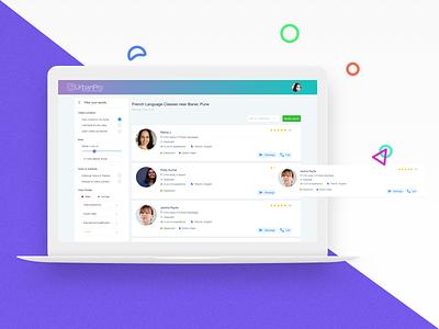Dashboard of coaching, tuition Marketplace dribbble invite coaching e-commerce dashboard ux ui minimal design app