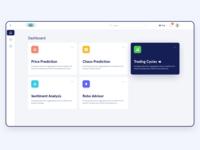Dashboard of Finance app