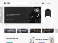 BEIGE - Fashion Website Design   FREE PSD