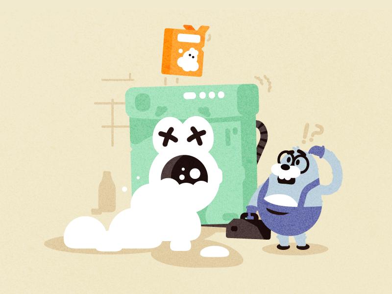 Overdose animals design vector 2d illustration flat character