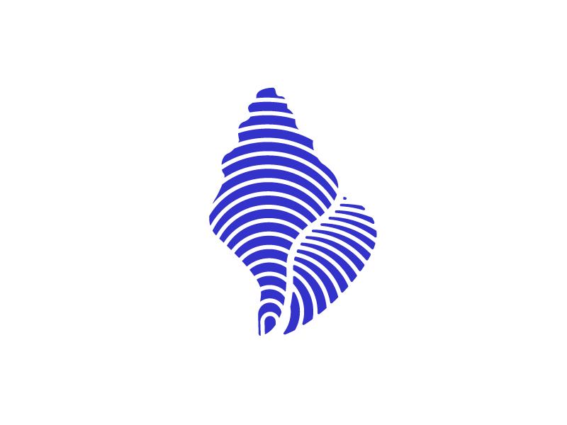 Shell nick lowry nicholas lowry negative space mark symbol logo shell logo shell seashell ocean