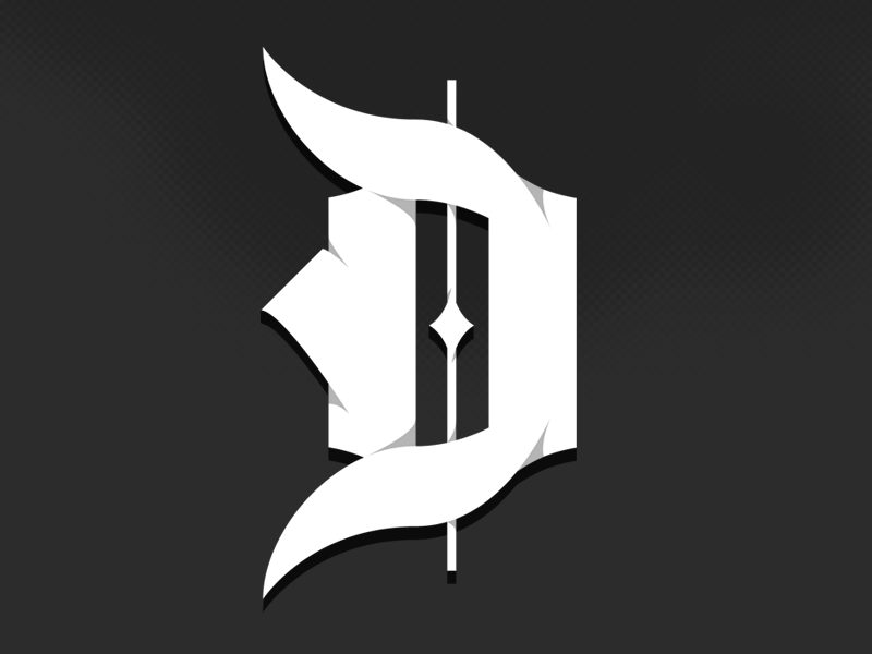 Black Letter D By Nicholas Lowry Dribbble Dribbble