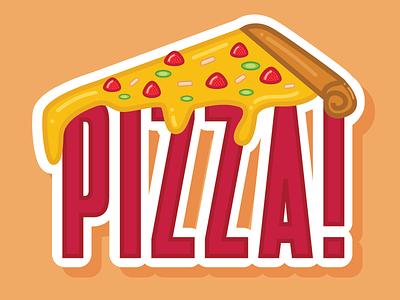 Pizza Playoff: Strawberry, Jalapeño, Ham PIZZA! vinnys vector stickermule sticker playoff pizza illustration food drip cheesy