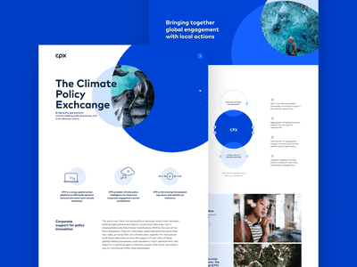 CPX Landingpage design system brand design landingpage webdesign digital logo blue design branding simple