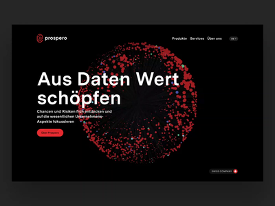 Prospero Web Relaunch ui webdesign typography brand design logo digital animation branding design simple
