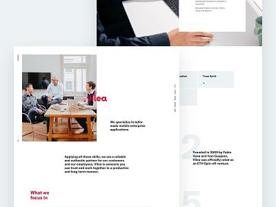 Vilea Web Relaunch typography logo simple ui brand design branding