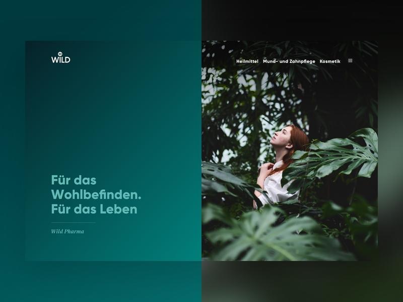 Wild Web Relaunch ui design digital webdesign health green pharma gradients branding design