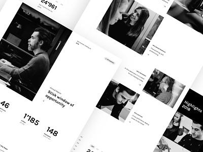 Wirz Group Annual Report Page web design blackandwhite typography digital simple design branding ui design uiux