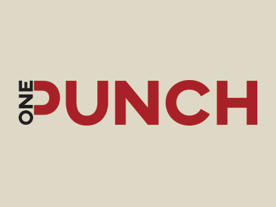 Onepunch - Logo black red manga mma boxe one punch branding logo