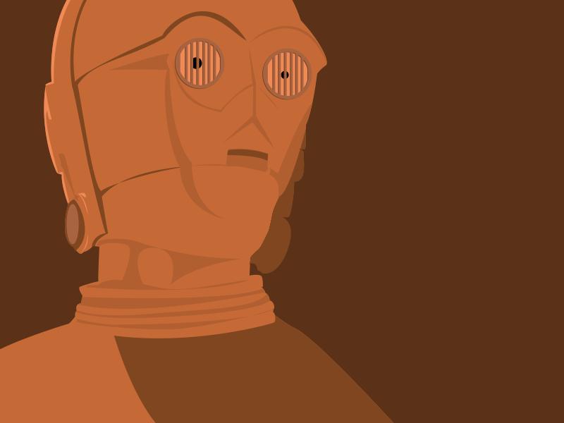 C-3PO - Illustration geek vectoriel c-3po star wars illustration avatar art