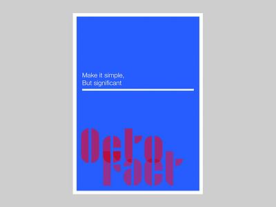 Make it simple - OctoFact design bauhaus contest adobehiddentreasures