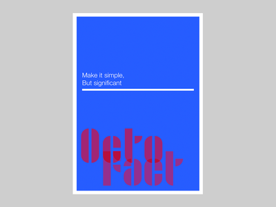 Make it simple - OctoFact design bauhaus contest adobehiddentreasures