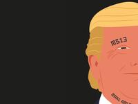 Trump - Illustration tattoo design illustration trump