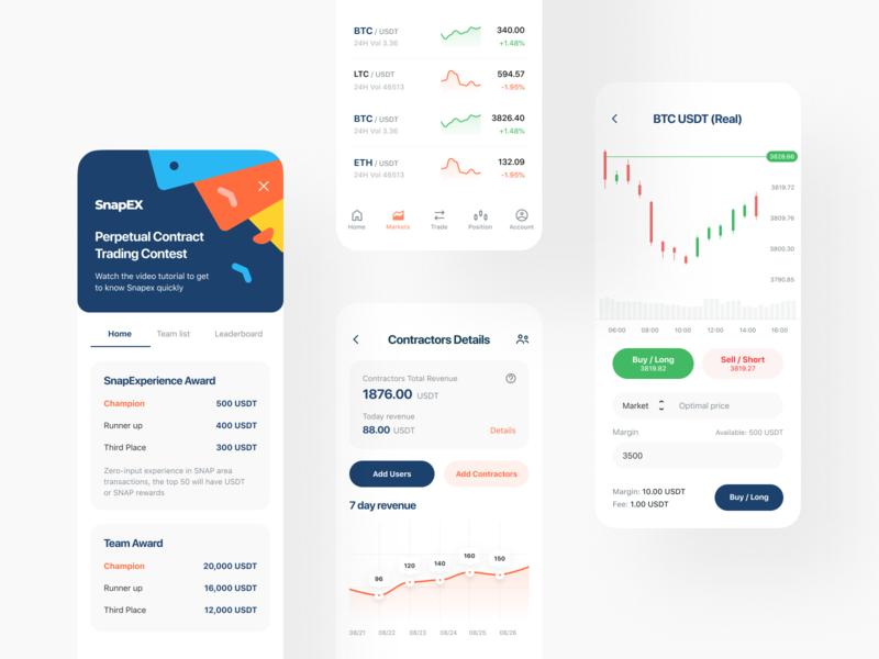 SnapEX: App cryptocurrency platform crypto user interface interface mobile app mobile ios app design app e-finance application product design trading finance fintech stock currency portfolio