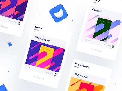 Tasks & cards 📌 teampaper snap cards color task manager tasks snap team paper teampaper