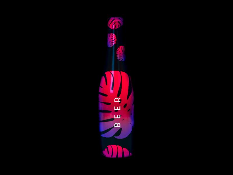 Bottle Design branding ui logo beer illustrator bottles