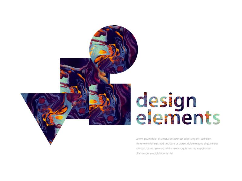 Design Elements trendy style colour elements design piramid square cricle