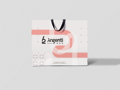 Argenti - Shopping Bag clothes shop shopping bag modular design abstract brand brand identity concept illustration graphic art branding design