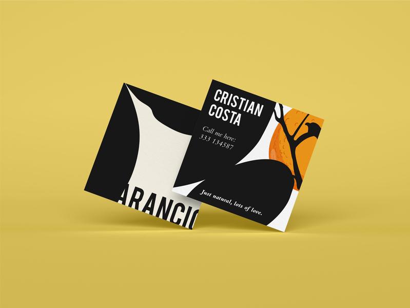 Aranciò - Business Cards business card design business card liquor orange juice orange oranges logo illustration brand identity graphic art branding design
