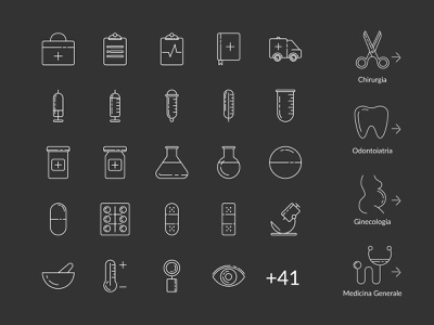 Medical Health Icons illustration brand identity branding art graphic icons icons design icons set medical app medical care medical center hospital doctor app doctors health icons medical icons icon design iconography icon set icon