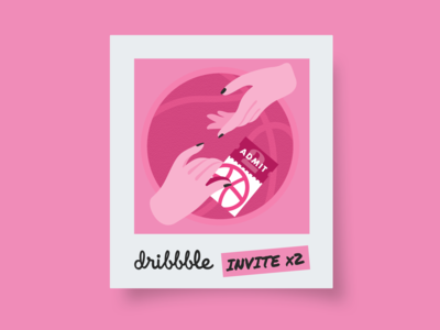 Dribbble Invitations x2