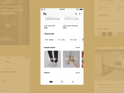 FTSY foot scanning animation minimal white mobile app scan scanning interaction clean ui app shopping ecommerce shoes ios mobile ui