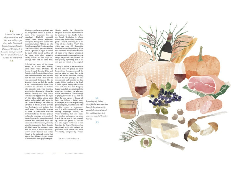 | French picnic | watercolour food illustration