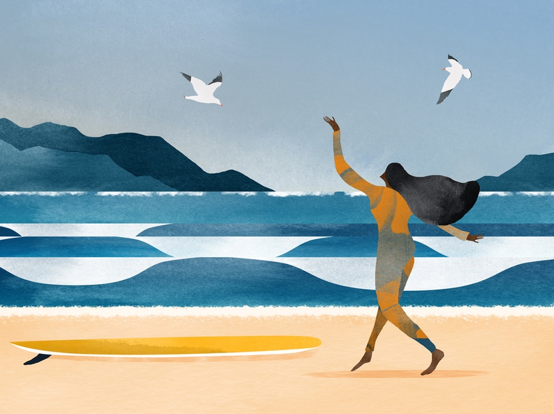 Ode to the ocean digitalpainting drawing watercolour illustration