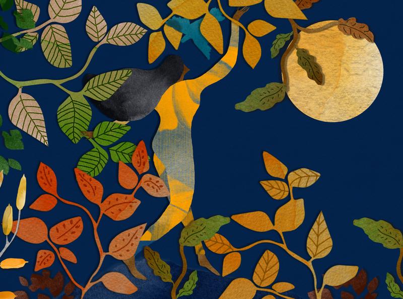 Autumn watercolour illustration