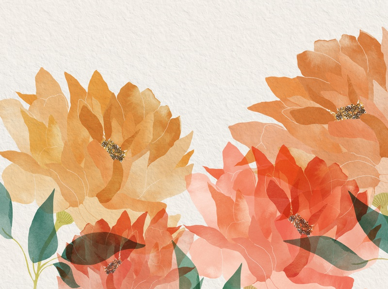 |Flowers| editorial watercolour watercolor drawing illustration