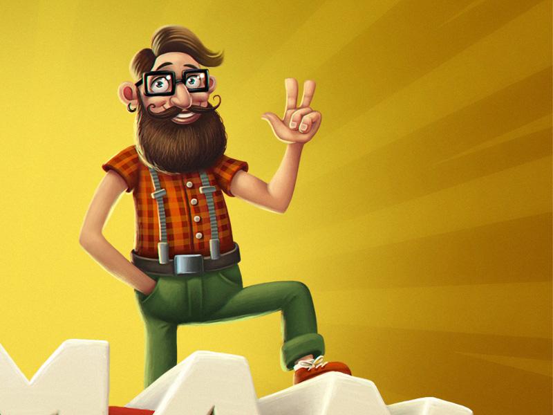 Hipster man illustration hipster