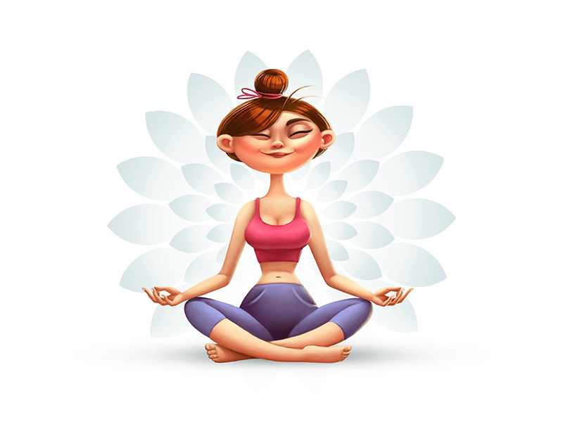 Yoga lotos girl yoga