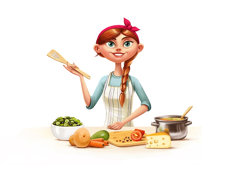 Kitchen cook fruit food cooking woman kitchen