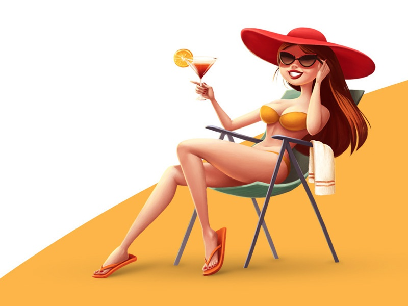 Beach holidays cocktail woman holidays beach recreation vacation girl