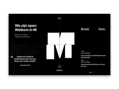 M-Building Homepage animation 51north page homepage website logo minimalist typography typeface tranquility hero design art direction