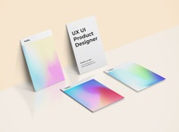 Business Cards business card gradient color gradient designer ui design ui ux design ux graphic design design graphic